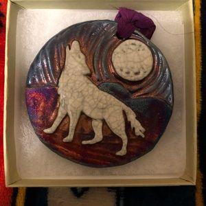 Raku Medallion Ornament